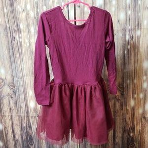 Nwot wine tulle skirt dress